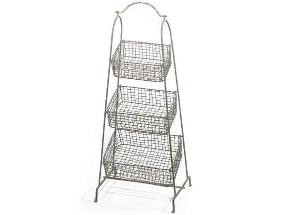Iron basket with 3 tier