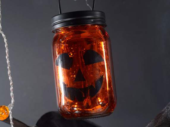 Halloween tealight holder w-star and handle