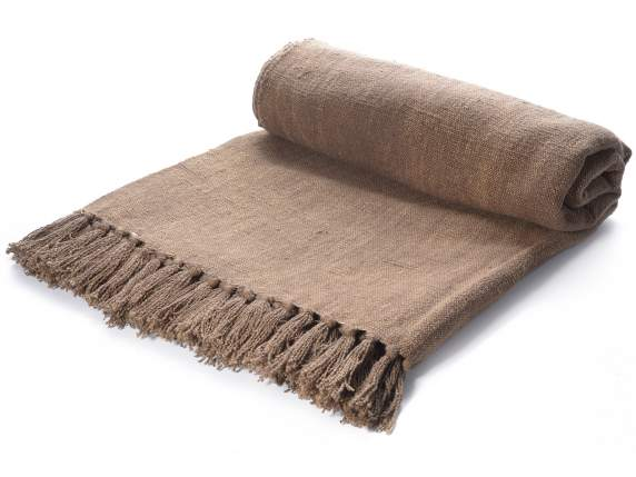Jute blankets with fringes