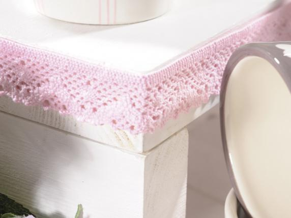 Lace baby pink ribbon mm 20x15 mt