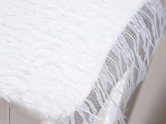 Organdie lace roll white color
