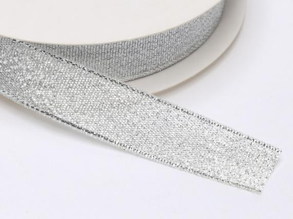 Lamè ribbon mm17x25mt silver