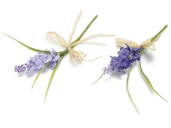Lavender bunch with rafia bow
