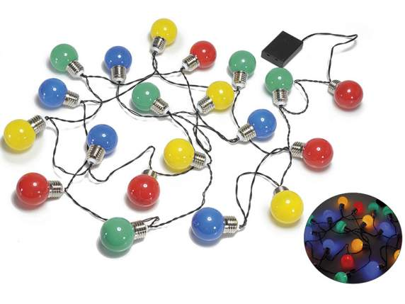 Wire 20 led lights w-colored bulb