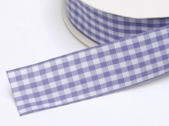 Checked ribbon 25mmx25mt lilac