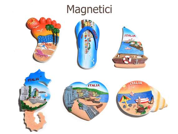 Magnet ''Italia' in colored resin