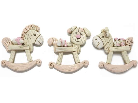 Magnet shaped rose little animals rockings