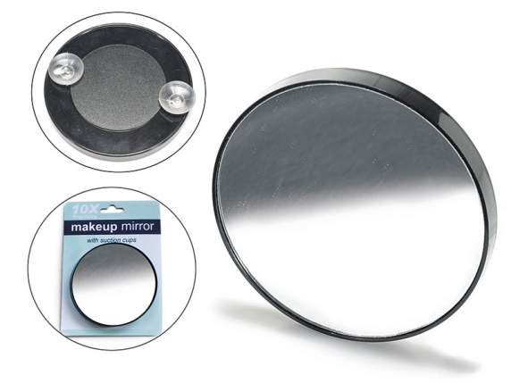 Make up mirror with magnifying glass 10X with header card