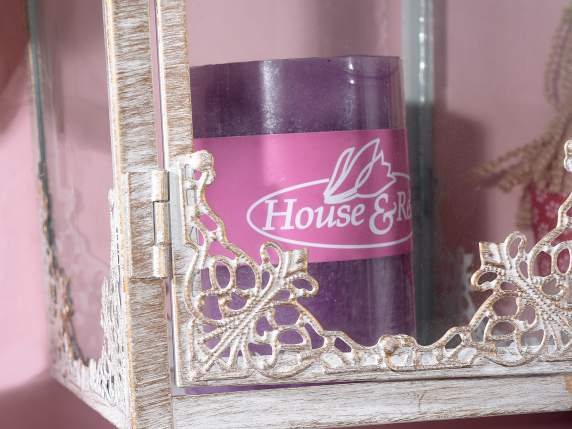 Medium lilac candle 6,5x9,5cm  - burning time 47 hours.
