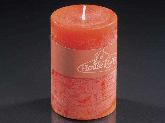 Medium orange candle 6 5x9 5cm burning time 70 hours for Candle painting medium