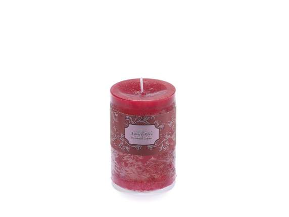 Medium red candle 6,5x9,5cm  - burning time 47 hours.