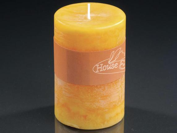 Medium yellow candle 6,5x9,5cm  - burning time 47 hours.