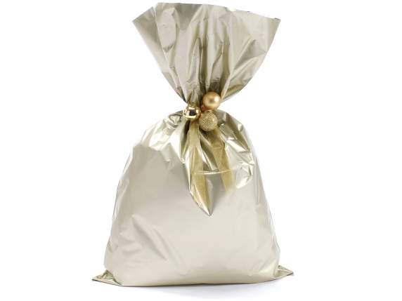 Metallic gift  bag chamapgne color cm 30x50 h