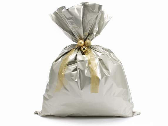 Metallic gift  bag chamapgne color cm 45x60h