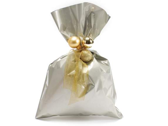 Metallic gift  bag champagne color cm 20x30 H