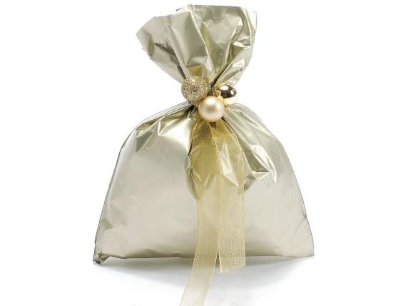 Metallic gift  bag chamapgne color cm 15x20h