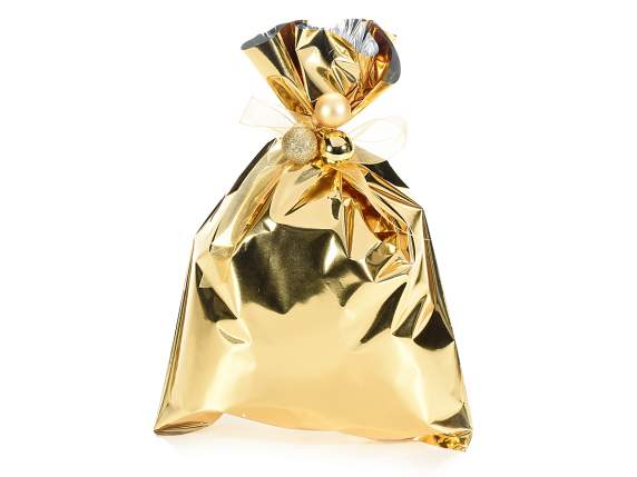 Metallic gift  bag golden color cm 20x30 H