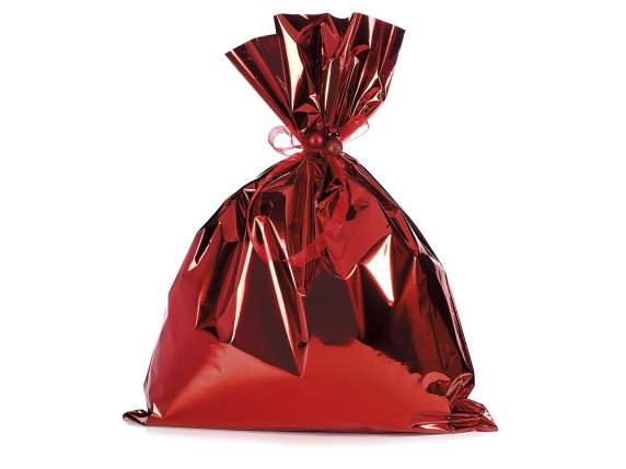 Metallic gift  bag red color cm 45x60h
