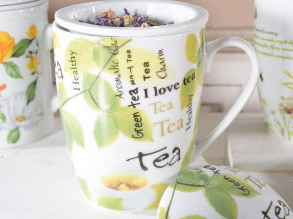 Infusion mug in porcelain with gift box