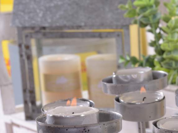 Metal gray multiple candle holders