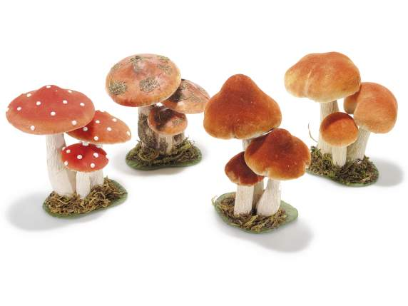 Group of 3mushroom paper-cloth