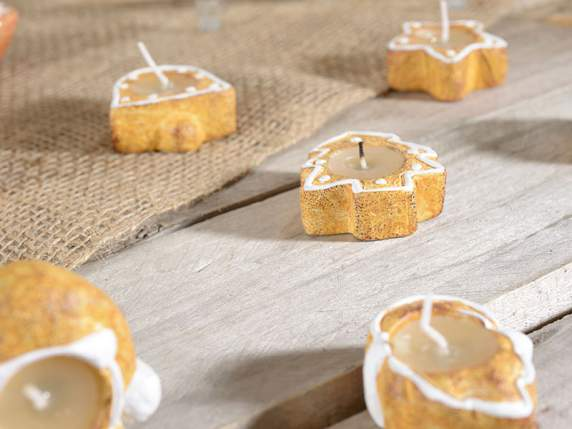 Biscottino in ceramica con candela tealight