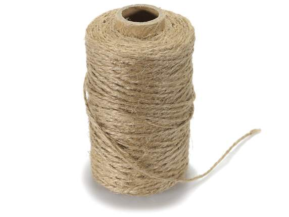 Natural jute twine roll