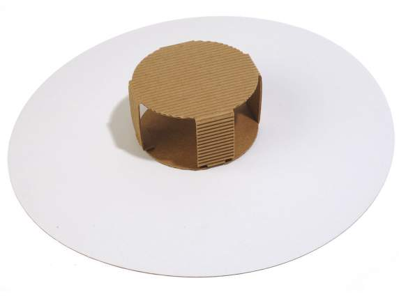 Natural paper card bottom for cake