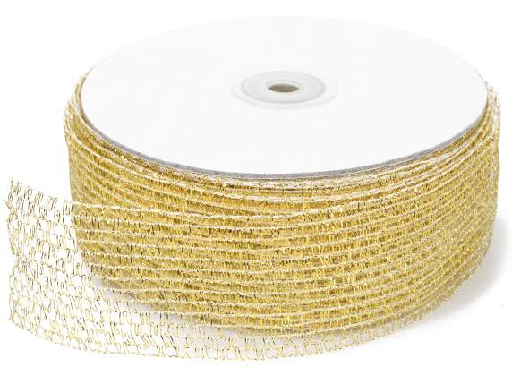 Net ribbon moldable mm 45x25 mt gold