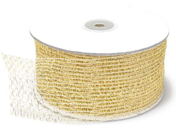 Net ribbon moldable mm 60x25 mt gold