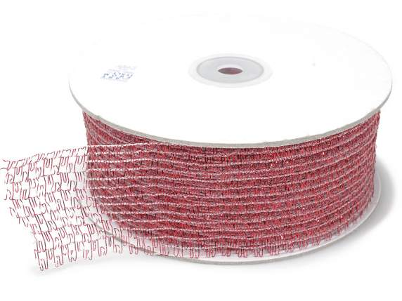 Net ribbon moldable mm 45x25 mt red