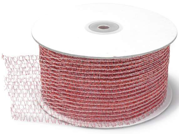Net ribbon moldable mm 60x25 mt red