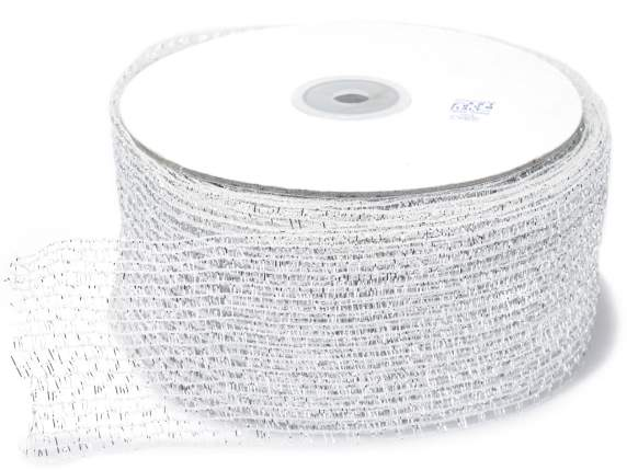 Net ribbon moldable mm 60x25 mt silver