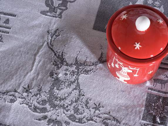 Chemin de table en tissu jacquard Christmas