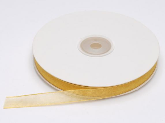 Organdie Band -quot;Poly-quot; mm 10x50 mt Gold