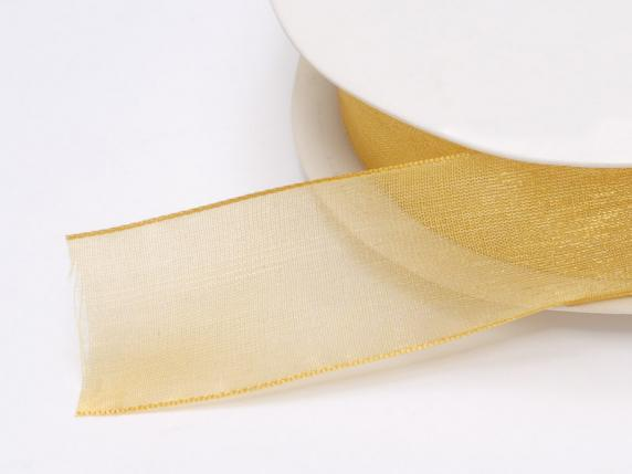 Organdie Band -quot;Poly-quot; mm 25x50 mt Gold