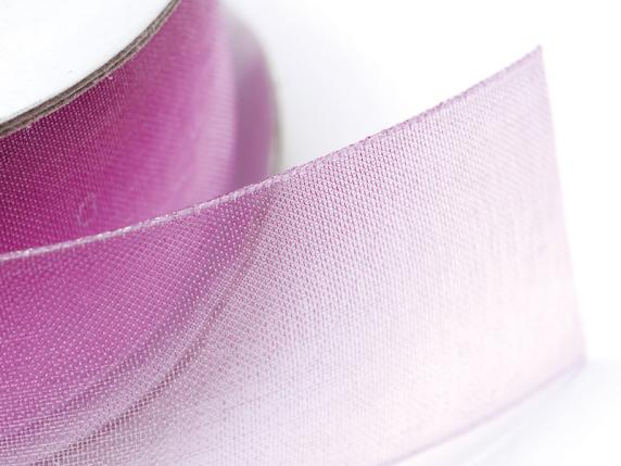 Organdie bicolor ribbon 25mmx25mt purple