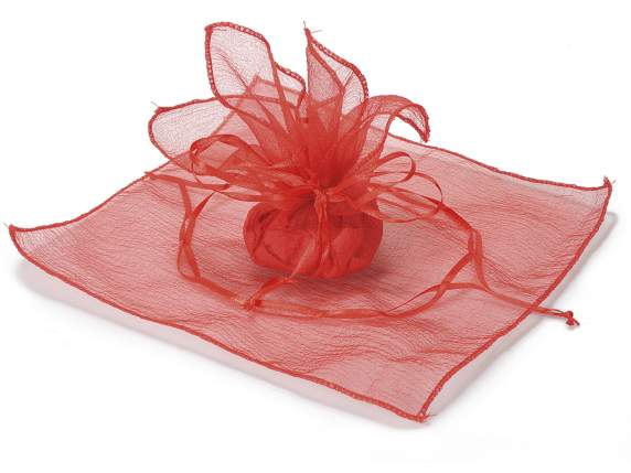 Organdie red sachet w-string