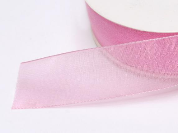 Organdie ribbon Poly mm 25x50 mt ancient pink