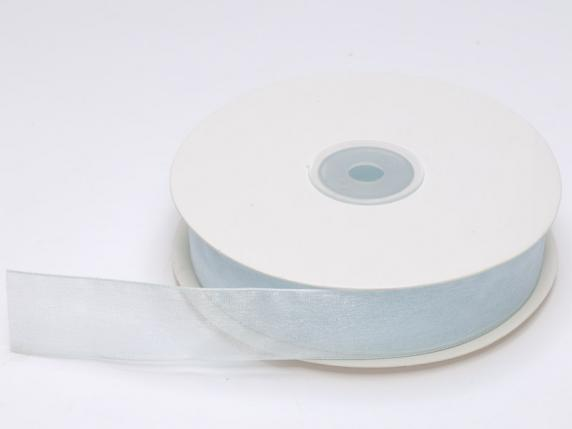 Organdie ribbon Poly mm 25x50 mt baby light blue