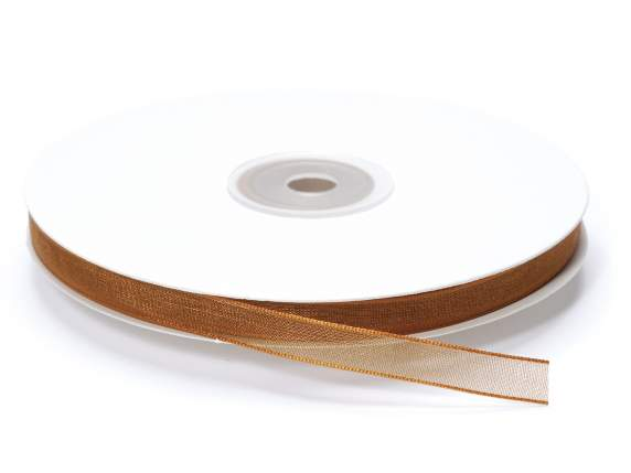 Organdie ribbon Poly mm 7x50 mt bronze