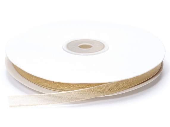 Organdie ribbon Poly mm 7x50 mt champagne