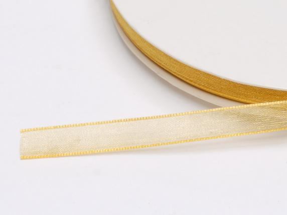 Organdie ribbon Poly mm 7x50 mt gold