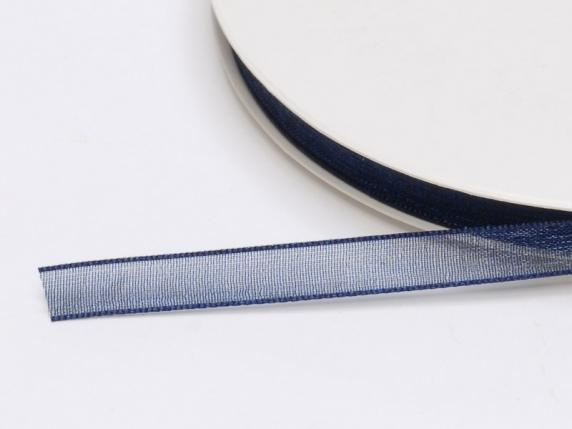 Organdie ribbon Poly mm 7x50 mt night blue
