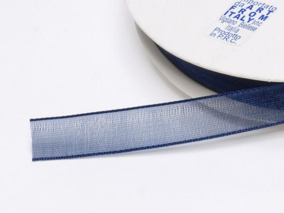 Organdie ribbon Poly mm 10x50 mt niglt blue