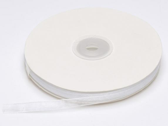Organdie ribbon Poly mm 7x50 mt snow white