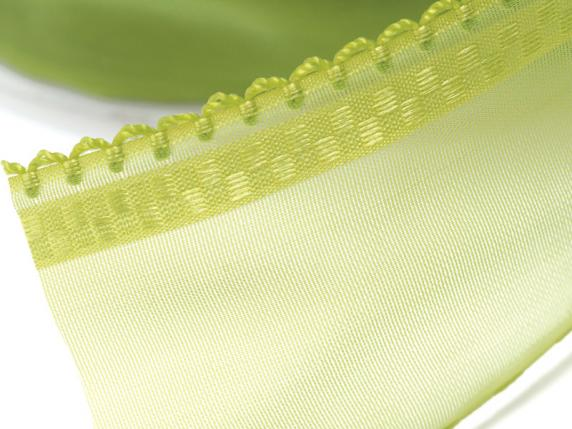 Organdie ribbon with string 38mmx50mt green garden