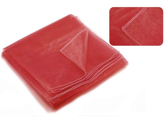 Red organdie tablecloths