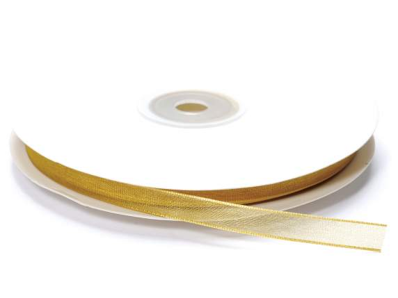 Organza Band -quot;Poly-quot; mm 7x50 mt Gold