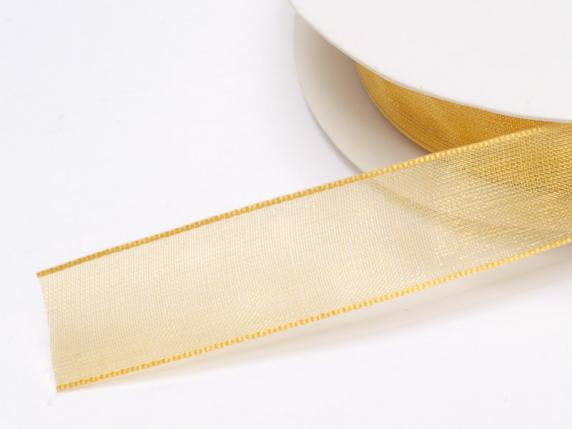 Organza Band -quot;Poly-quot; mm 15x50 mt Gold
